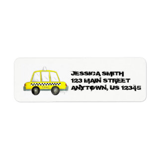 Personalized NYC Yellow Taxi Checker Cab New York Label
