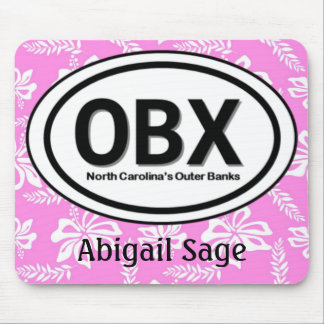 Personalized OBX Outer Banks Pink Mousepad
