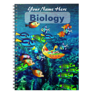Personalized Ocean Scenery Subject NoteBook