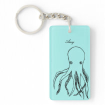 Personalized Octopus Keychain
