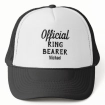 Personalized Official Ring Bearer Hat
