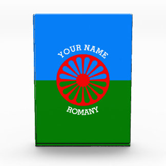 Personalized Official Romany gypsy travellers flag Award