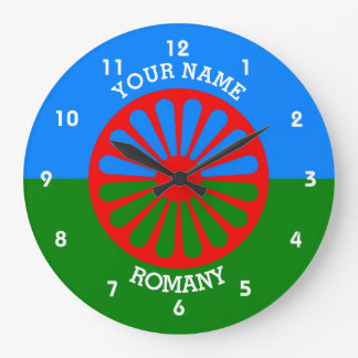 Personalized Official Romany gypsy travellers flag Clocks