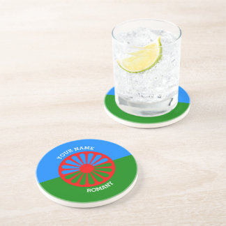 Personalized Official Romany gypsy travellers flag Coaster