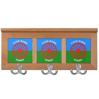 Personalized Official Romany gypsy travellers flag Coat Rack