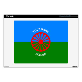 """Personalized Official Romany gypsy travellers flag Decal For 14"""" Laptop"""