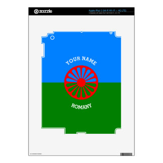 Personalized Official Romany gypsy travellers flag Decal For iPad 3