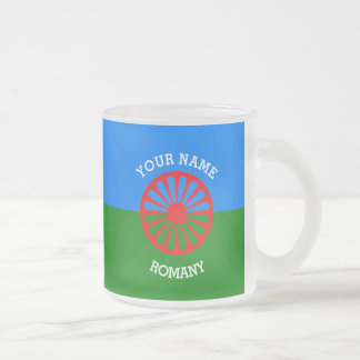 Personalized Official Romany gypsy travellers flag Frosted Glass Coffee Mug