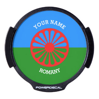 Personalized Official Romany gypsy travellers flag LED Window Decal