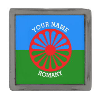 Personalized Official Romany gypsy travellers flag Gunmetal Finish Lapel Pin