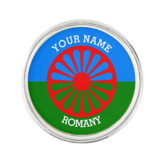 Personalized Official Romany gypsy travellers flag Lapel Pin
