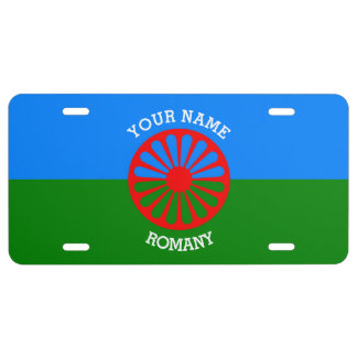Personalized Official Romany gypsy travellers flag License Plate
