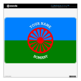 Personalized Official Romany gypsy travellers flag MacBook Skins