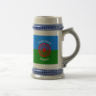 Personalized Official Romany gypsy travellers flag 18 Oz Beer Stein