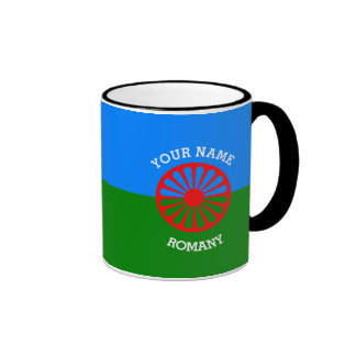 Personalized Official Romany gypsy travellers flag Ringer Coffee Mug