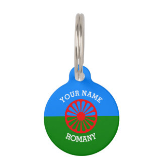 Personalized Official Romany gypsy travellers flag Pet ID Tag