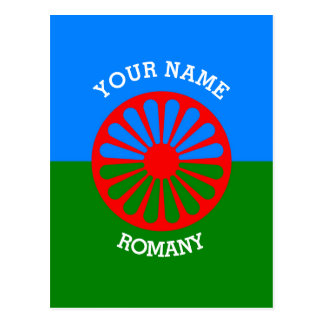 Personalized Official Romany gypsy travellers flag Postcard