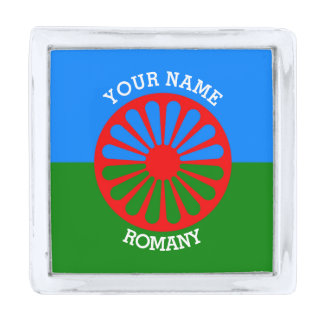 Personalized Official Romany gypsy travellers flag Silver Finish Lapel Pin