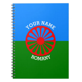 Personalized Official Romany gypsy travellers flag Spiral Notebook