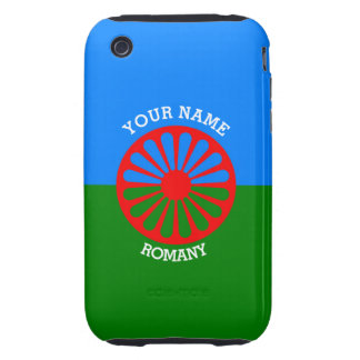 Personalized Official Romany gypsy travellers flag Tough iPhone 3 Cover
