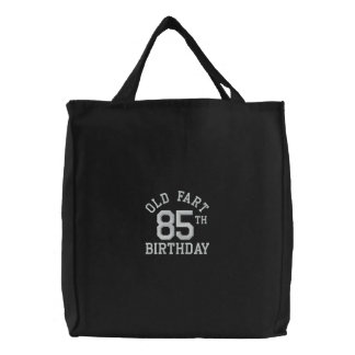 Personalized Old Fart Embroidered Tote Bag