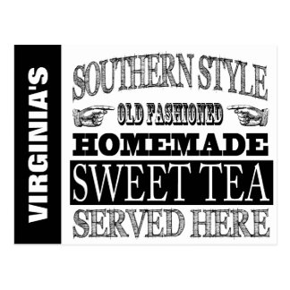 Personalized Old Fashioned SWEET TEA sign Postcard