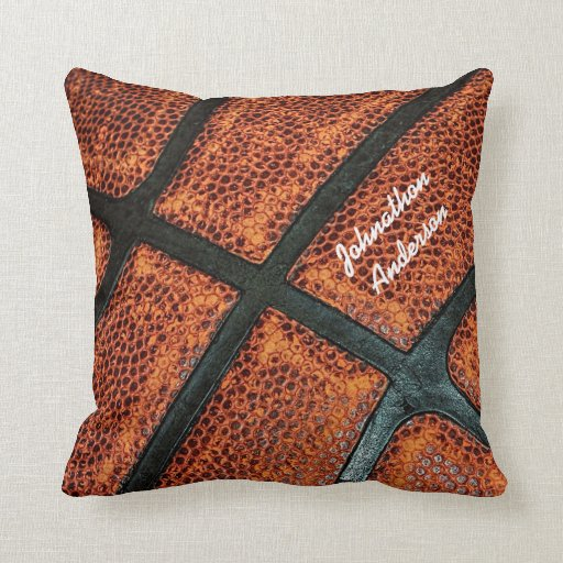 Personalized Old Retro Basketball Pattern Throw Pillow