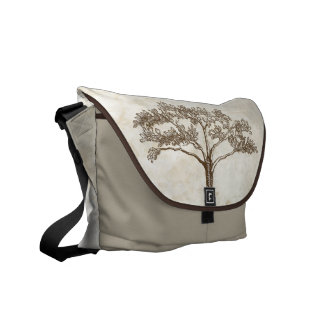 Personalized Old Rustic Vintage Tree Commuter Bag