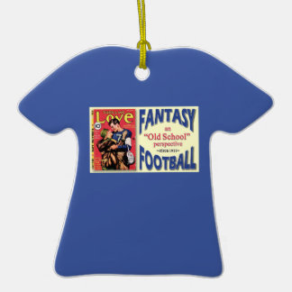 Personalized Old School Fantasy Football Ornament