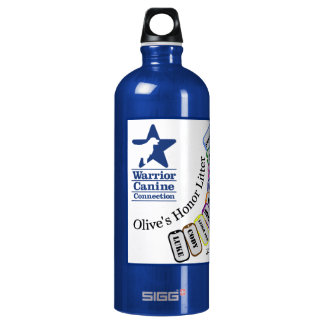 Personalized Olive's Honor Litter Water Bottle