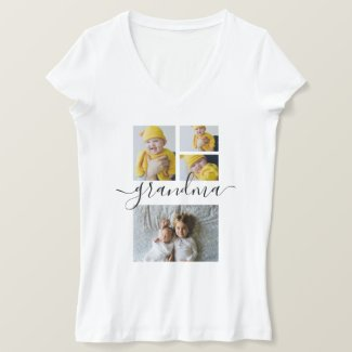 Personalized One Of A Kind Photo Collage T-Shirt