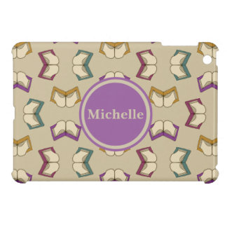 Personalized Open Books Pattern iPad Mini Case