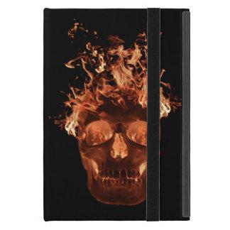 Personalized Orange Fire Skull iPad Mini Case