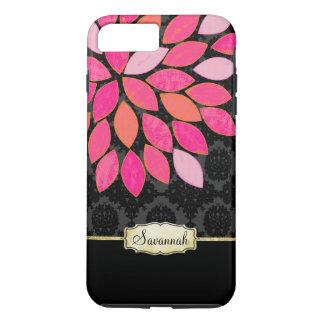 Personalized Orange Pink Black Gold iPhone Case