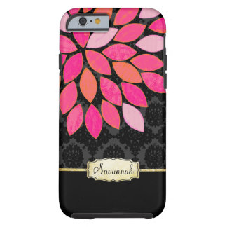 Personalized Orange Pink Black Gold iPhone Case Tough iPhone 6 Case