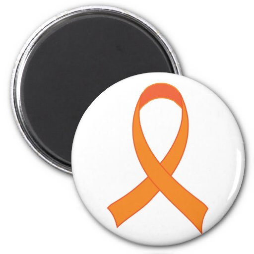 Personalized Orange Ribbon Awareness Gift 2 Inch Round Magnet