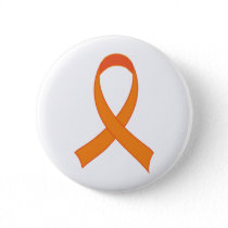 Personalized Orange Ribbon Awareness Gift Button