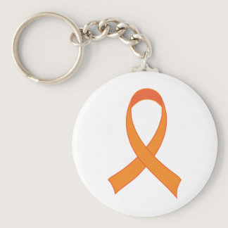Personalized Orange Ribbon Awareness Gift Keychain
