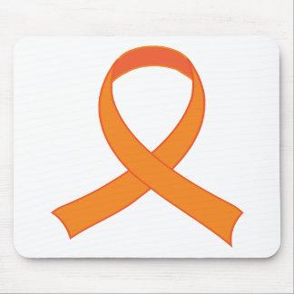 Personalized Orange Ribbon Awareness Gift Mouse Mat