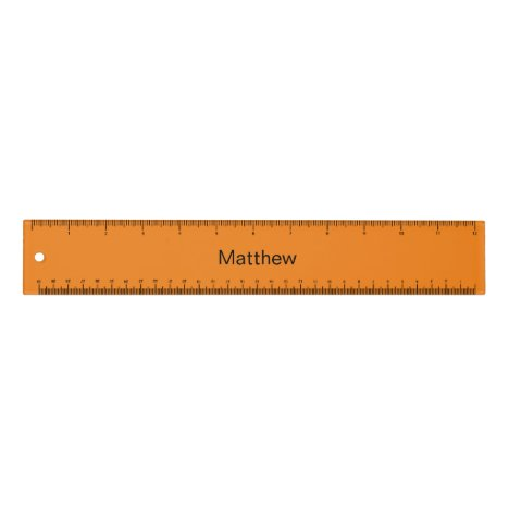 Personalized orange ruler for kids