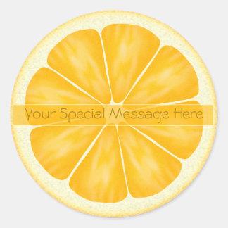 Personalized Orange Slice Stickers