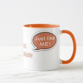 Personalized Orange Speech Bubble Hot Chocolate Mug