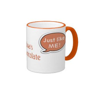 Personalized Orange Speech Bubble Hot Chocolate Coffee Mugs