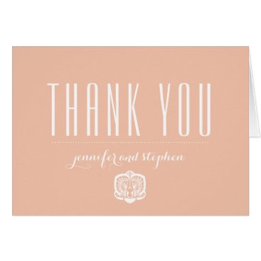 Beach Themed Personalized Orchid Thank You Cards