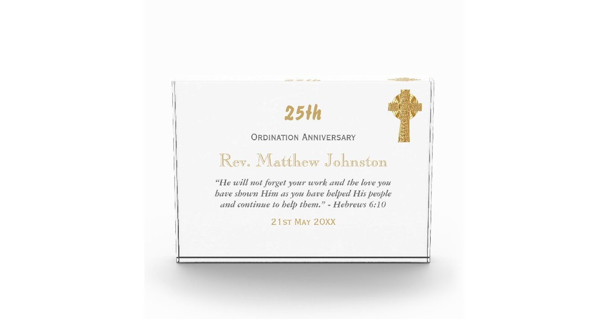 ORDINATION ANNIVERSARY Priest Pastor