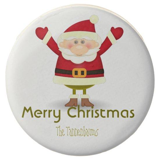 Personalized Oreos- Colorful Santa- Chocolate Covered Oreo