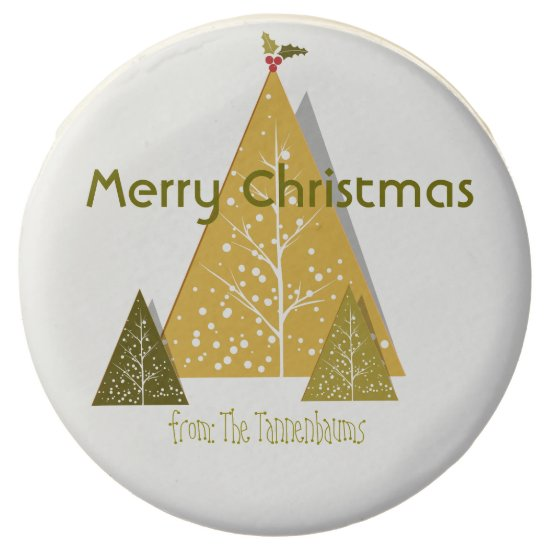 Personalized Oreos- Stylized Christmas Trees- Chocolate Dipped Oreo