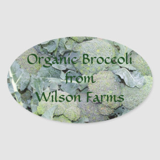 Personalized Organic Broccoli Canning Labels