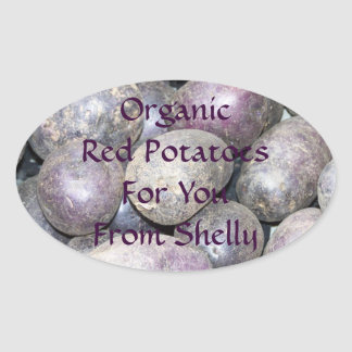 Personalized Organic Red Potatoes Canning Labels