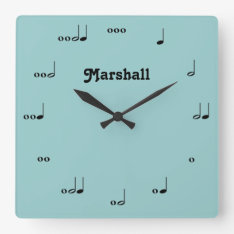 Personalized Original Music Note Clock at Zazzle